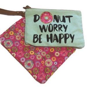 Handbags - 💥5/$25 Donut Pouches Clutch